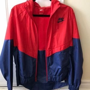 Unisex Red Nike Windbreaker New Condition